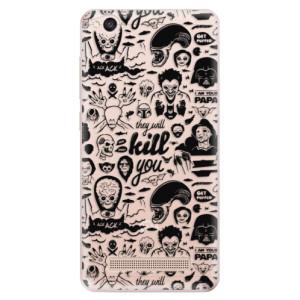 Silikonové odolné pouzdro iSaprio - Comics 01 - black na mobil Xiaomi Redmi 4A