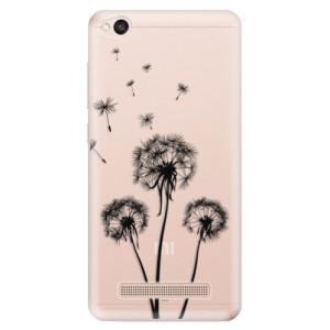 Silikonové odolné pouzdro iSaprio - Three Dandelions - black na mobil Xiaomi Redmi 4A