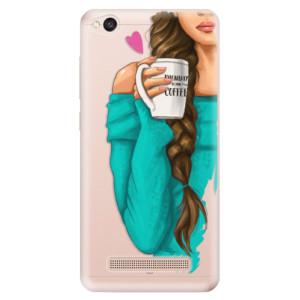 Silikonové odolné pouzdro iSaprio - My Coffe and Brunette Girl na mobil Xiaomi Redmi 4A