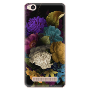 Silikonové odolné pouzdro iSaprio - Dark Flowers na mobil Xiaomi Redmi 4A