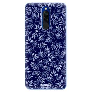 Silikonové odolné pouzdro iSaprio - Blue Leaves 05 na mobil Xiaomi Redmi 8