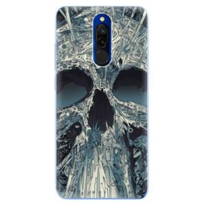 Silikonové odolné pouzdro iSaprio - Abstract Skull na mobil Xiaomi Redmi 8