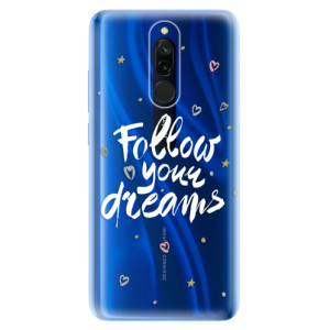 Silikonové odolné pouzdro iSaprio - Follow Your Dreams - white na mobil Xiaomi Redmi 8
