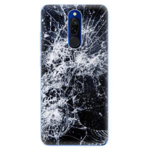 Silikonové odolné pouzdro iSaprio - Cracked na mobil Xiaomi Redmi 8