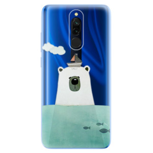 Silikonové odolné pouzdro iSaprio - Bear With Boat na mobil Xiaomi Redmi 8
