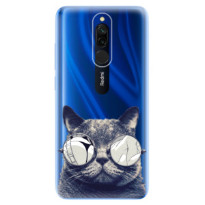 Silikonové odolné pouzdro iSaprio - Crazy Cat 01 na mobil Xiaomi Redmi 8