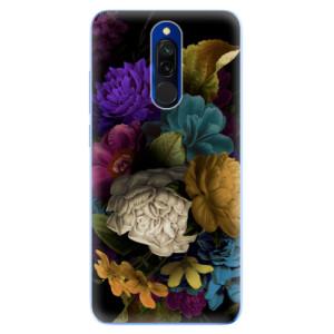Silikonové odolné pouzdro iSaprio - Dark Flowers na mobil Xiaomi Redmi 8