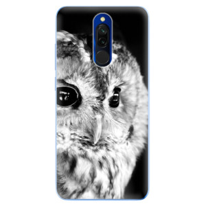 Silikonové odolné pouzdro iSaprio - BW Owl na mobil Xiaomi Redmi 8