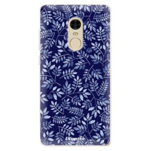 Silikonové odolné pouzdro iSaprio - Blue Leaves 05 na mobil Xiaomi Redmi Note 4
