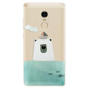 Silikonové odolné pouzdro iSaprio - Bear With Boat na mobil Xiaomi Redmi Note 4