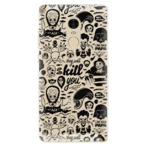Silikonové odolné pouzdro iSaprio - Comics 01 - black na mobil Xiaomi Redmi Note 4