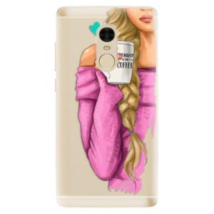 Silikonové odolné pouzdro iSaprio - My Coffe and Blond Girl na mobil Xiaomi Redmi Note 4