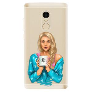 Silikonové odolné pouzdro iSaprio - Coffe Now - Blond na mobil Xiaomi Redmi Note 4