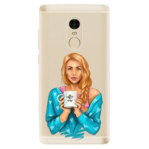 Silikonové odolné pouzdro iSaprio - Coffe Now - Redhead na mobil Xiaomi Redmi Note 4