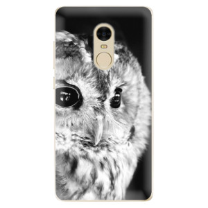 Silikonové odolné pouzdro iSaprio - BW Owl na mobil Xiaomi Redmi Note 4