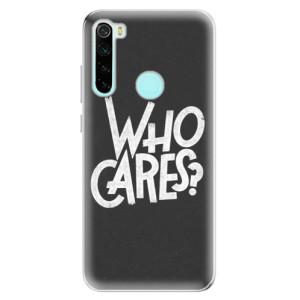 Silikonové odolné pouzdro iSaprio - Who Cares na mobil Xiaomi Redmi Note 8