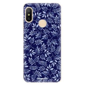 Silikonové odolné pouzdro iSaprio - Blue Leaves 05 na mobil Xiaomi Mi A2 Lite