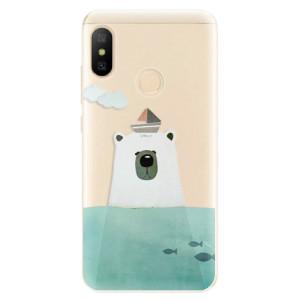Silikonové odolné pouzdro iSaprio - Bear With Boat na mobil Xiaomi Mi A2 Lite