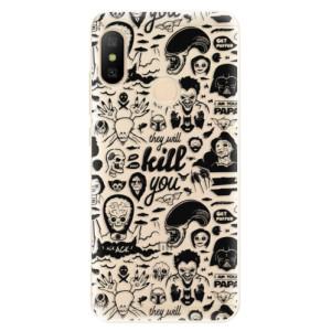 Silikonové odolné pouzdro iSaprio - Comics 01 - black na mobil Xiaomi Mi A2 Lite