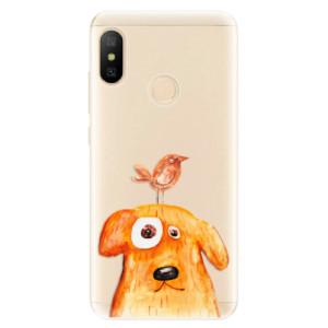 Silikonové odolné pouzdro iSaprio - Dog And Bird na mobil Xiaomi Mi A2 Lite