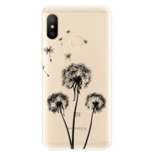 Silikonové odolné pouzdro iSaprio - Three Dandelions - black na mobil Xiaomi Mi A2 Lite