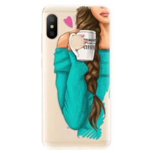 Silikonové odolné pouzdro iSaprio - My Coffe and Brunette Girl na mobil Xiaomi Mi A2 Lite