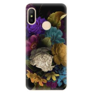 Silikonové odolné pouzdro iSaprio - Dark Flowers na mobil Xiaomi Mi A2 Lite