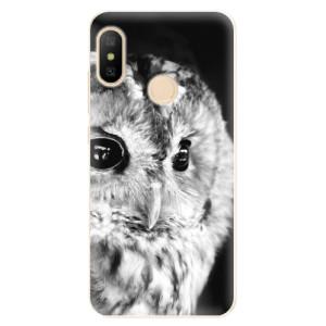Silikonové odolné pouzdro iSaprio - BW Owl na mobil Xiaomi Mi A2 Lite