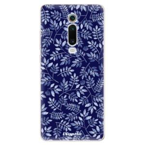 Silikonové odolné pouzdro iSaprio - Blue Leaves 05 na mobil Xiaomi Mi 9T Pro