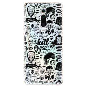 Silikonové odolné pouzdro iSaprio - Comics 01 - black na mobil Xiaomi Mi 9T Pro