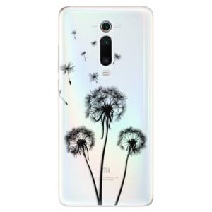 Silikonové odolné pouzdro iSaprio - Three Dandelions - black na mobil Xiaomi Mi 9T Pro