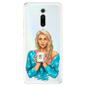 Silikonové odolné pouzdro iSaprio - Coffe Now - Blond na mobil Xiaomi Mi 9T Pro