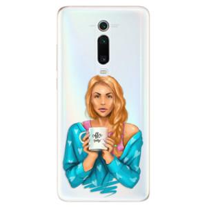 Silikonové odolné pouzdro iSaprio - Coffe Now - Redhead na mobil Xiaomi Mi 9T Pro