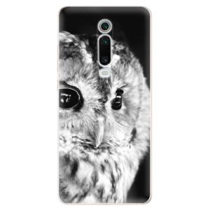 Silikonové odolné pouzdro iSaprio - BW Owl na mobil Xiaomi Mi 9T Pro