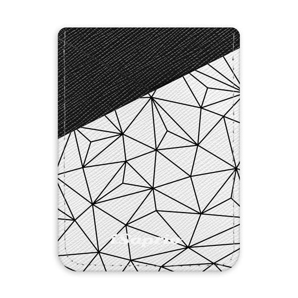 Pouzdro na kreditní karty iSaprio Abstract Flower tmavá nalepovací kapsa