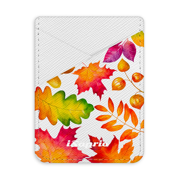 Pouzdro na kreditní karty iSaprio Autumn Leaves 01 světlá nalepovací kapsa
