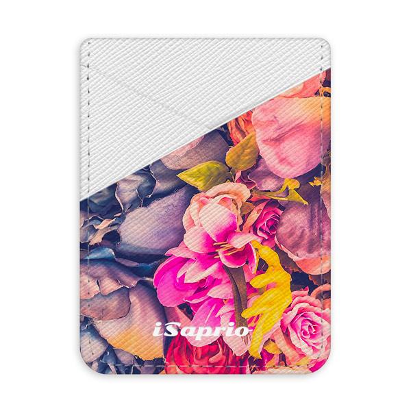 Pouzdro na kreditní karty iSaprio Beauty Flowers světlá nalepovací kapsa