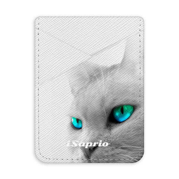 Pouzdro na kreditní karty iSaprio Cats Eyes světlá nalepovací kapsa