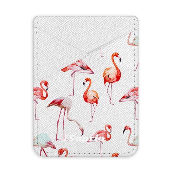 Pouzdro na kreditní karty iSaprio Flami Pattern 01 světlá nalepovací kapsa