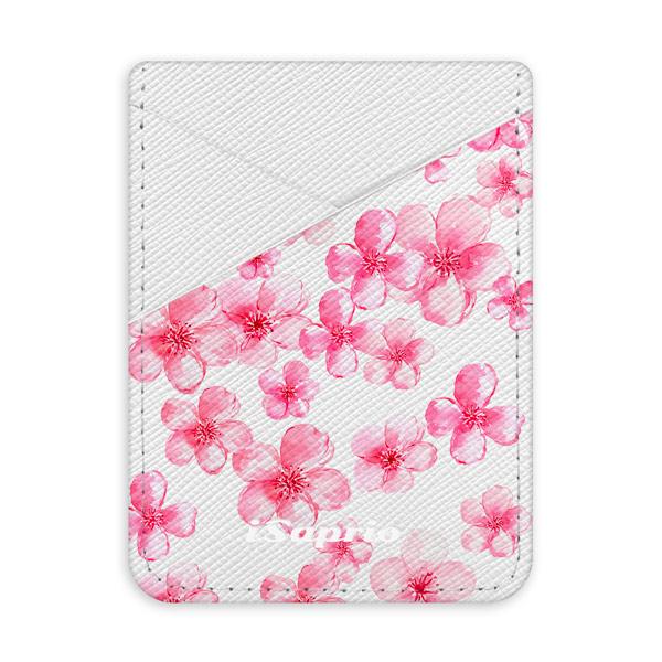 Pouzdro na kreditní karty iSaprio Flower Pattern 05 světlá nalepovací kapsa
