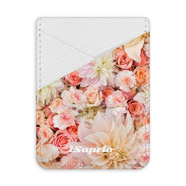 Pouzdro na kreditní karty iSaprio Flower Pattern 06 světlá nalepovací kapsa