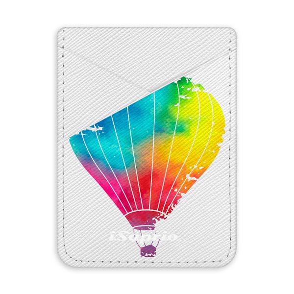 Pouzdro na kreditní karty iSaprio Flying Baloon 01 světlá nalepovací kapsa