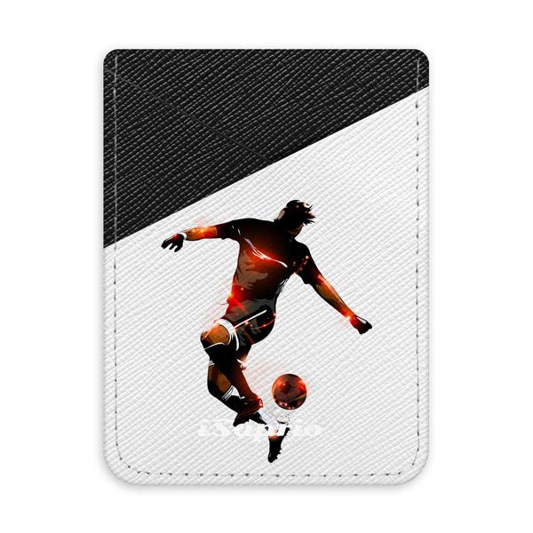 Pouzdro na kreditní karty iSaprio Fotball 01 black tmavá nalepovací kapsa
