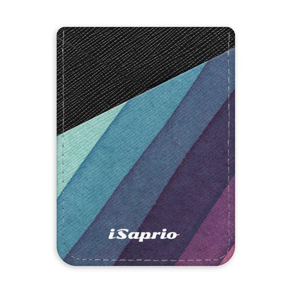 Pouzdro na kreditní karty iSaprio Glitter Stripes 01 tmavá nalepovací kapsa