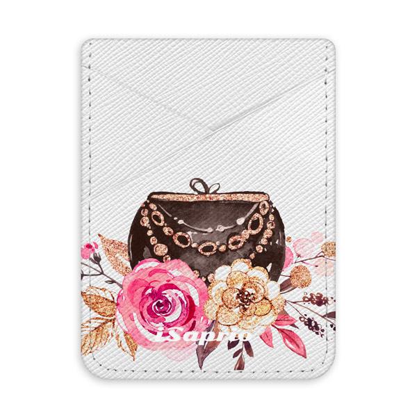 Pouzdro na kreditní karty iSaprio Handbag 01 světlá nalepovací kapsa