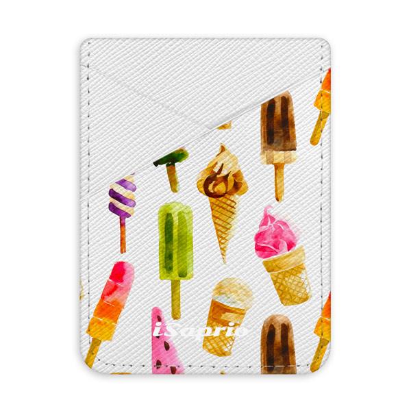 Pouzdro na kreditní karty iSaprio Ice Cream světlá nalepovací kapsa