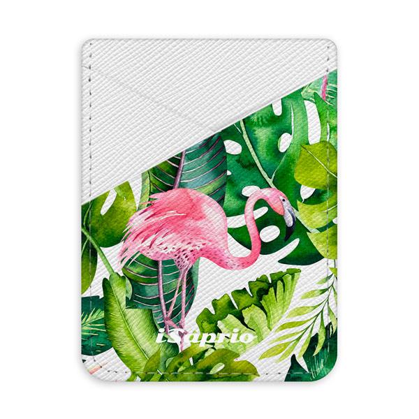 Pouzdro na kreditní karty iSaprio Jungle 02 světlá nalepovací kapsa