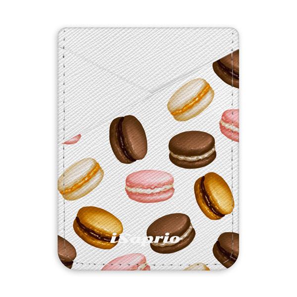 Pouzdro na kreditní karty iSaprio Macaron Pattern světlá nalepovací kapsa