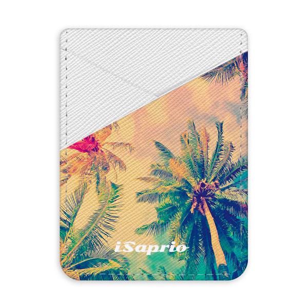 Pouzdro na kreditní karty iSaprio Palm Beach světlá nalepovací kapsa