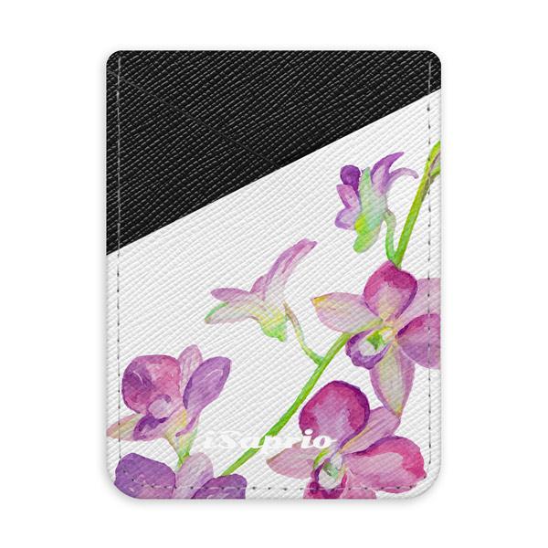 Pouzdro na kreditní karty iSaprio Purple Orchid tmavá nalepovací kapsa